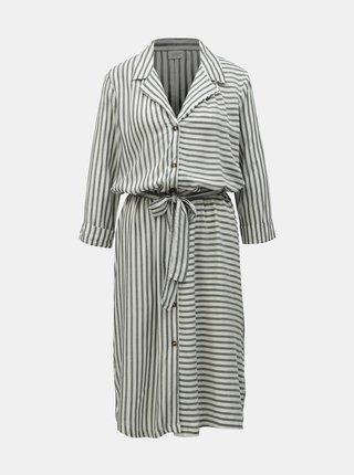 Šedo-bílé pruhované košilové šaty Jacqueline de Yong Karla