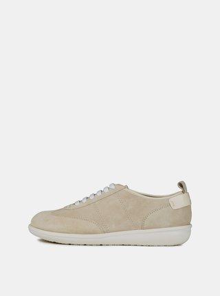 Pantofi sport bej de dama din piele intoarsa Geox Jearl