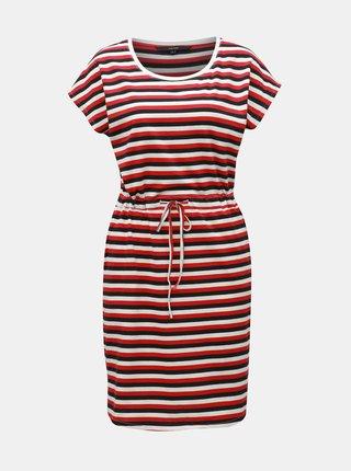 2559b8db75 Bielo–červené pruhované šaty s vreckami VERO MODA April