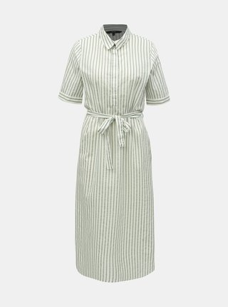 Rochie tip camasa verde-alb in dungi VERO MODA Cassie