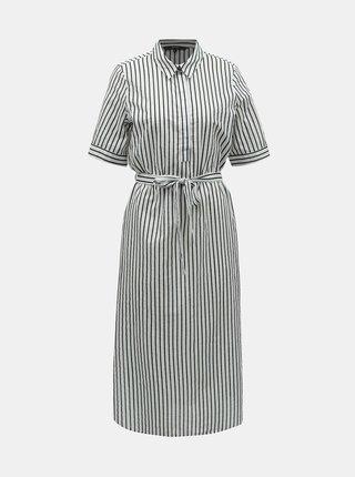 Čierno–biele pruhované košeľové šaty VERO MODA Cassie