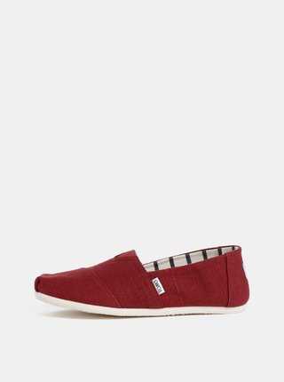 Pantofi slip on barbatesti rosii TOMS