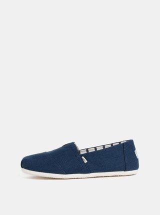 Pantofi slip on barbatesti albastri TOMS