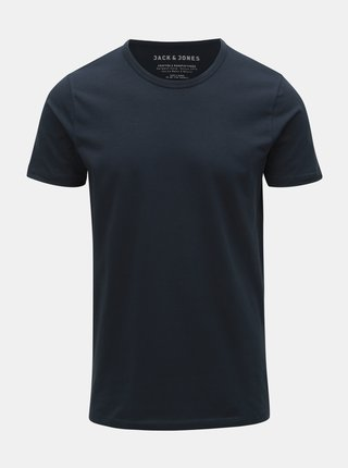 Tricou basic albastru Jack & Jones