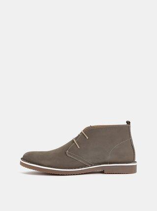 Pantofi barbatesti maro din piele Dice Abney