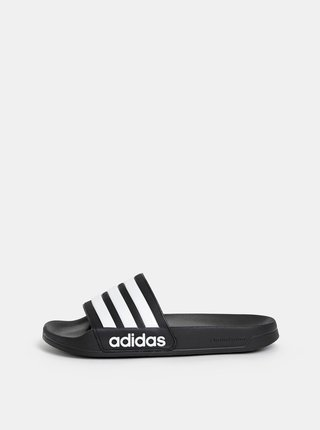 Papuci barbatesti negri in dungi adidas CORE Adilette Shower