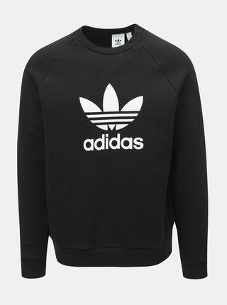 Bluza sport barbateasca neagra cu imprimeu adidas Originals Trefoil