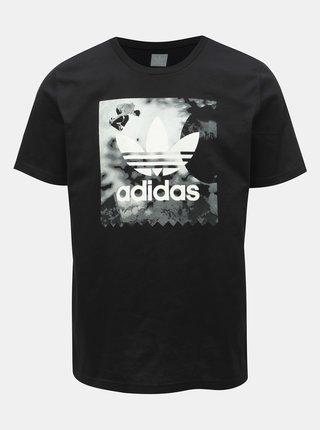 Tricou barbatesc negru cu imprimeu adidas Originals Gonz