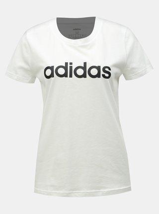 f741afc38 Biele dámske slim fit tričko s potlačou adidas CORE