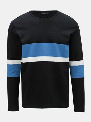 Černé tričko s dlouhým rukávem Selected Homme Tony