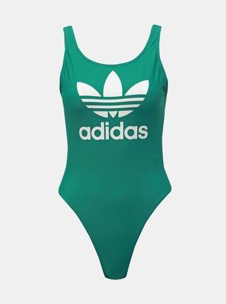 Costum de baie verde de dama cu imprimeu adidas Originals