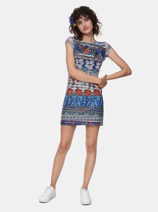Rochie mini albastra cu model Desigual Fiona