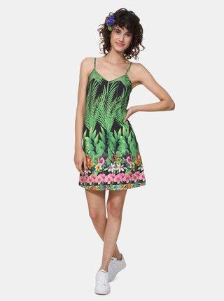 Rochie verde cu model Desigual Annette
