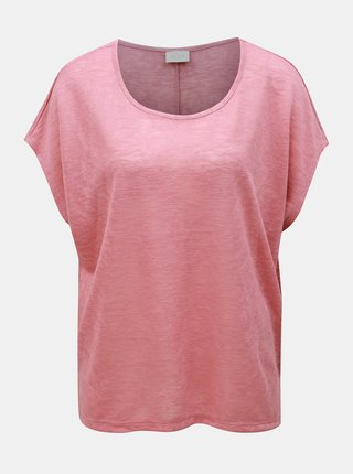 Tricou roz oversize VILA Sumi
