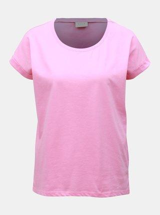 Ružové basic tričko VILA Dreamers