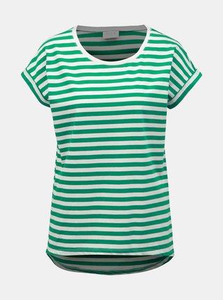 Zeleno-bílé pruhované basic tričko VILA Dreamers