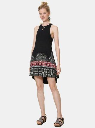 Černé vzorované šaty Desigual Valery