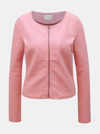 Bluza sport roz cu fermoar VILA Naja