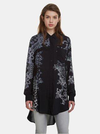 Camasa neagra cu model Desigual Amandine