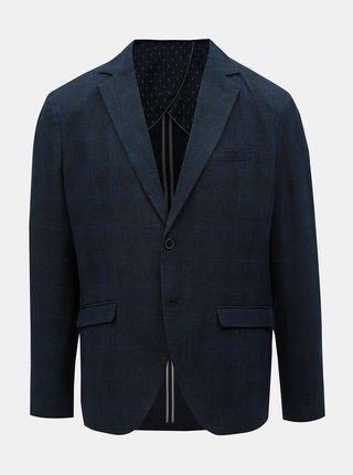 Sacou albastru inchis in carouri cu amestec de in Selected Homme