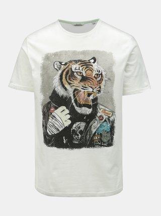 Bílé tričko s potiskem ONLY & SONS Loris