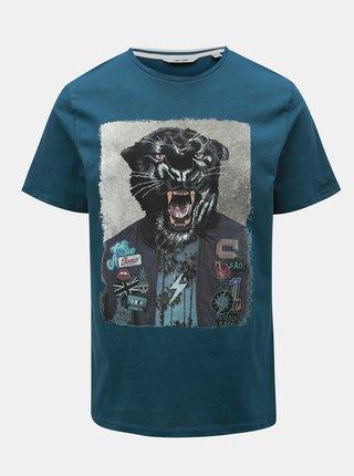 Tricou albastru cu imprimeu ONLY & SONS Loris