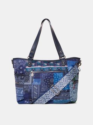 Tmavě modrá vzorovaná kabelka Desigual Shade of memories Maxton