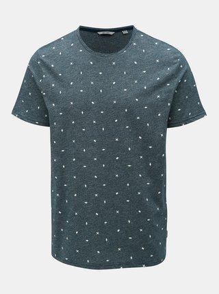 Modré vzorované tričko ONLY & SONS Lang