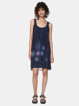 Rochie albastru inchis cu model Desigual Graciela