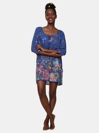 Tmavě modré vzorované šaty Desigual Melina