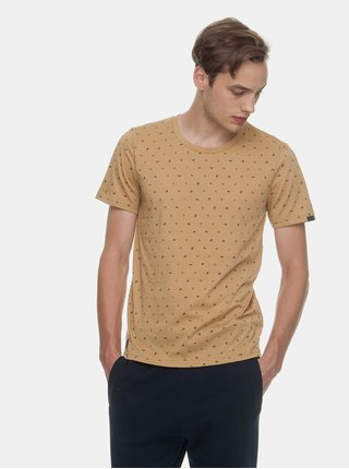 Světle hnědé pánské vzorované tričko Ragwear Romare Organic