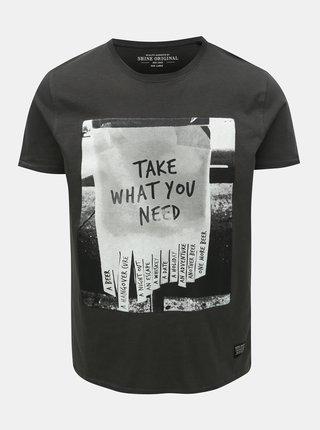 Tmavě šedé tričko Shine Original