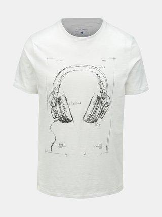 Tricou alb cu imprimeu ONLY & SONS Patrik