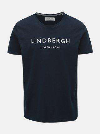 Tmavě modré tričko s potiskem Lindbergh