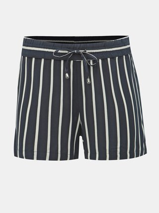 Pantaloni scurti albastru inchis in dungi Jacqueline de Yong Star