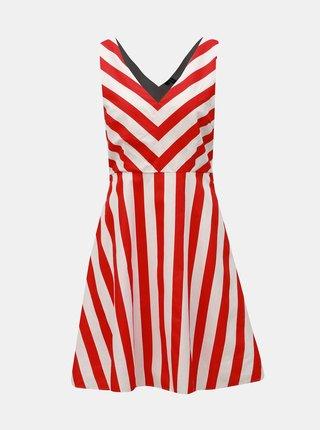 Bílo-červené pruhované šaty VERO MODA Maya