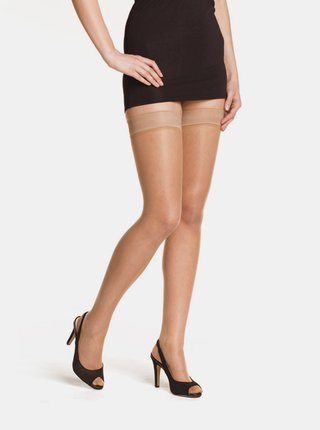 Set de 2 dres autosustinut roz pal Bellinda Beauty Hold Ups 15 DEN