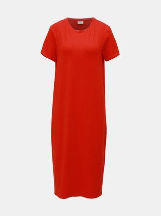 Červené šaty VERO MODA AWARE Gava