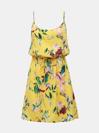 Žluté květované šaty VERO MODA Simply