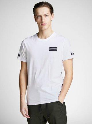 Biele slim tričko s potlačou na chrbte Jack & Jones Jeppes