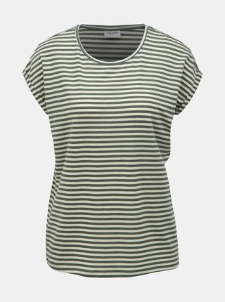 Tricou basic verde in dungi VERO MODA AWARE Ava
