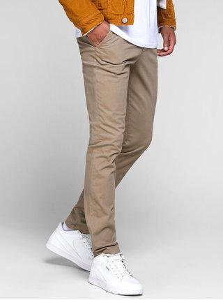 Pantaloni bej slim Jack & Jones Marco
