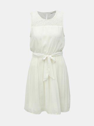 Bílé šaty s plisovanou sukní ONLY Carolina