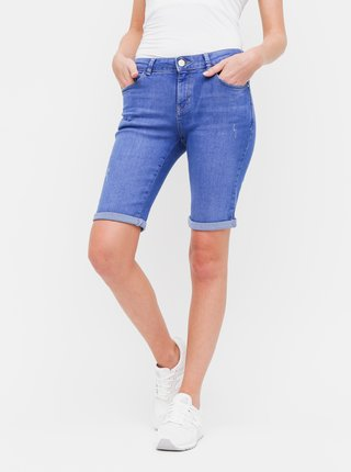 Pantaloni scurti albastri regular fit din denim Dorothy Perkins