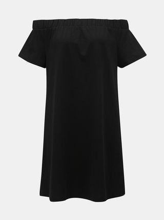 Černé šaty s odhalenými rameny VERO MODA Alzia