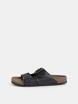 Papuci barbatesti negri din piele Jack & Jones Croxton