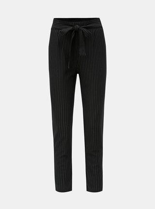 Černé pruhované kalhoty ONLY Florence