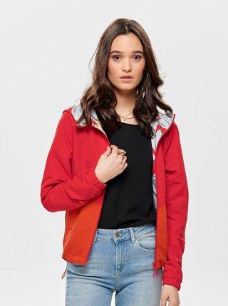 Červená obojstranná tenká bunda ONLY New Jazz