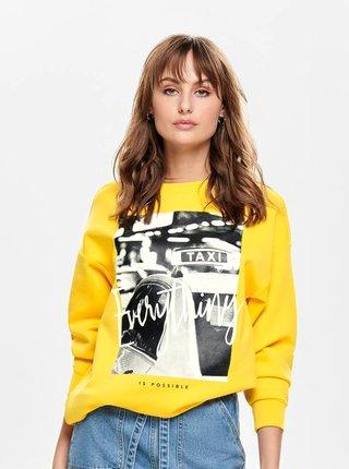 Bluza sport galbena cu imprimeu ONLY Star