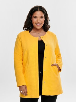 Žltý rebrovaný tenký kabát ONLY CARMACOMA Toronto